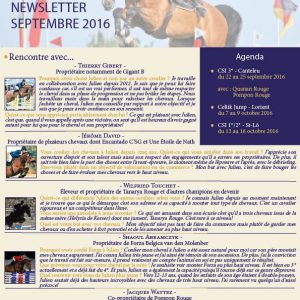 Newsletter Julien Anquetin septembre 2016